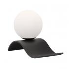 Настольная лампа Trio Lara 508400132 матовый черный/белое стекло
