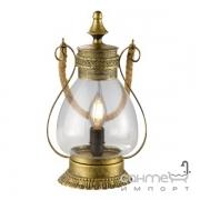 Настольная лампа Trio Linda 503500104 старая латунь/прозрачное стекло