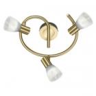 Спот на 3 LED-лампы Trio Levisto 871090308 матовая латунь/стекло алебастр