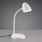 Настольная LED-лампа со станцией беспроводной зарядки Trio Reality Load R59029901 белая