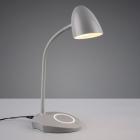 Настольная LED-лампа со станцией беспроводной зарядки Trio Reality Load R59029911 серая