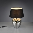 Настольная лампа Trio Reality Luanda R50791989 керамика хром/черная ткань