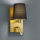 Настенный светильник Trio Marriot 271470279 золото/черная ткань