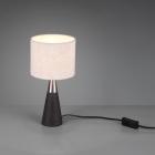 Настольная лампа Trio Reality Memphis R50330178 черный бетон/хром/бежевая ткань