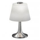 Настольная LED-лампа Trio Monti 529310107 матовый никель/белое стекло
