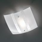 Потолочный светильник Trio Nikosia 608700189 серебро/белое матовое стекло