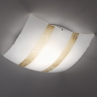 Потолочный светильник Trio Nikosia 608700379 золото/белое матовое стекло