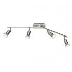 Спот на 4 LED-лампы Trio Reality Nimes R82944107 матовый никель