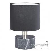 Настольная лампа Trio Orlando 503900102 керамика черный мрамор/черная ткань