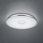 Потолочный LED-светильник с дистанционным управлением Trio Osaka 678710006 хром/белый