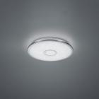 Потолочный LED-светильник с дистанционным управлением Trio Osaka 678713006 хром/белый