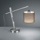 Настольная лампа Trio Reality Padme R50361007 матовый никель/серая ткань