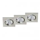 Тройной точечный LED-светильник Trio Pamir 650410307 матовый никель