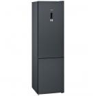 Отдельностоящий двухкамерный холодильник с нижней морозильной камерой Siemens KG39NXX316 черный
