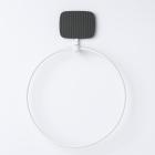 Вешалка для полотенец круглая Geelli GDO-ASB C01 31x22 см черный/белый