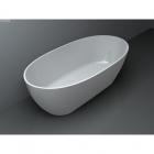 Ванна из литого мрамора отдельно стоящая Miraggio Estella 1680х830 белый матовый