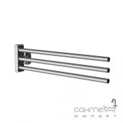 Тройная вешалка-вертушка для полотенец AM.PM Gem A9032700 хром