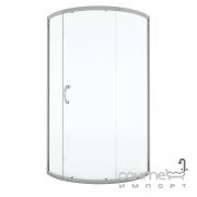 Полукруглая душевая кабина AM.PM Bliss Solo Slide 90 W56G-315-090CM профиль сатин, стекло матовое