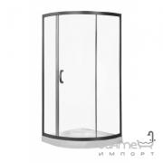 Полукруглая душевая кабина AM.PM Bliss Solo Slide 90 W56G-315-090MT профиль сатин, стекло прозрачное