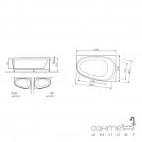 Акриловая ванна AM.PM Like W80A-170L110W-A левосторонняя
