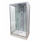 Гидромассажный бокс Veronis BN-5-52 white профиль хром, задние стенки белые, двери прозрачные