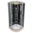 Гидромассажный бокс Veronis BN-5-100 GR профиль хром, задние стенки черные, двери тонированные