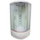 Гидромассажный бокс Veronis BV-5-100 XL профиль хром, задние стенки белые, двери матовые (фабрик)