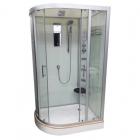 Гидромассажный бокс Veronis BN-5-120 white правый, профиль хром, задние стенки белые, двери прозрачные