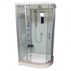 Гидромассажный бокс Veronis BN-5-120 white левый, профиль хром, задние стенки белые, двери прозрачные
