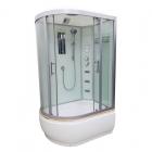 Гидромассажный бокс Veronis BV-5-120 R правосторонний, профиль хром, стенки белые, двери прозрачные