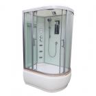 Гидромассажный бокс Veronis BV-5-120 L левосторонний, профиль хром, стенки белые, двери прозрачные