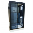 Гидромассажный бокс Veronis BN-6-29 R правосторонний, профиль черный, стенки черные, двери прозрачные