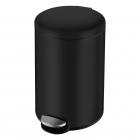 Ведро мусорное c педалью округлое Volle 14-05-53B 5л черный