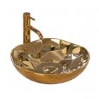 Раковина на столешницу Rea Paris REA-U8500 золото