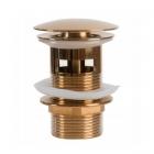 Донный клапан с переливом Rea REA-A3210 розовое золото