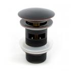 Донный клапан с переливом Rea Old Black REA-A0079 черный