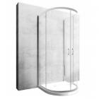 Пристенная полукруглая душевая кабина с поддоном Rea Romance-3 KPL профиль хром, прозрачное стекло
