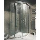 Полукруглая душевая кабина с поддоном Rea Impuls Slim Lewa 100x80x1885 профиль хром, стекло прозрачное