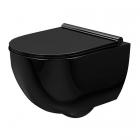 Унитаз подвесной безободковый Rea Carter Black Rimless REA-C4211 глянцевый черный