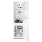 Встраиваемый двухкамерный холодильник с нижней морозильной камерой Electrolux ENN93111AW белый