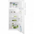 Отдельностоящий двухкамерный холодильник с верхней морозильной камерой Electrolux EJ2301AOW2 белый