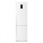 Отдельностоящий двухкамерный холодильник с нижней морозильной камерой Electrolux EN93852JW белый
