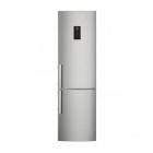 Отдельностоящий двухкамерный холодильник с нижней морозильной камерой Electrolux EN3790MKX серебристый