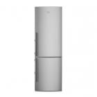 Отдельностоящий двухкамерный холодильник с нижней морозильной камерой Electrolux EN3853MOX серый