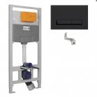 Инсталляция для подвесного унитаза Imprese i8122B панель смыва черная