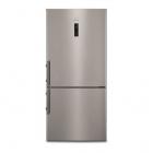 Отдельностоящий двухкамерный холодильник с нижней морозильной камерой Electrolux EN5284KOX серый