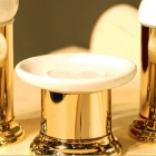 Мыльница настольная Migliore Luxury Mirella ML.MRL-4411.DO золото/белая керамика