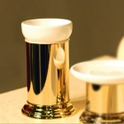 Стакан настольный Migliore Luxury Mirella ML.MRL-4410.DO золото/белая керамика