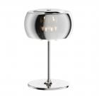Настольная лампа Zuma Line Crystal T0076-03E-F4FZ Хром, Стекло, Хрустальные Капли