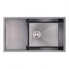 Кухонная мойка Imperial D7844BL PVD black Handmade 3.0/1.2 mm IMPD7844BLPVDH12 черная сталь сатин